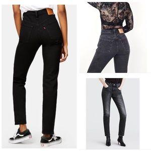 Vintage Levi's 501 Original Hi-Rise Black Jeans 🌺